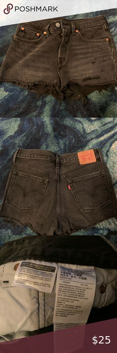 Levi's 501 Black Denim Shorts Never worn before. Originally purchased from Free People. Too big for me now! Levi's Shorts Jean Shorts Levis 501 Black, Levi Shorts, Black Denim Shorts, Free People, Best Deals, Big, Womens Fashion, Closet, Things To Sell