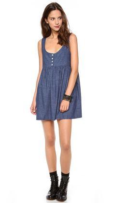 Margaux Lonnberg Loue Bleu Pois Dress