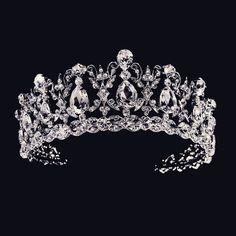 Just stunning! Regal CZ and Rhinestone Vintage Inspired Wedding Tiara - Affordable Elegance Bridal - Bridal Crown, Bridal Tiara, Bridal Headpieces, Wedding Jewelry, Wedding Tiaras, Bling Wedding, Rhinestone Wedding, Vintage Rhinestone, Wedding Dress