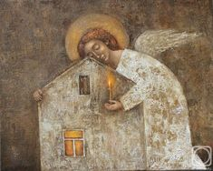 FunkyIMG is a free image hosting that allows you to easily upload images and share them with friends. Seraph Angel, Angel Artwork, Angel Images, Guardian Angels, Russian Art, Sacred Art, Native Art, Christian Art, Religious Art