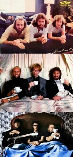 In bed with the Bee Gees.
