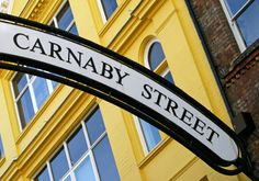 The boutiques of Carnaby Street, London - swinging sixties