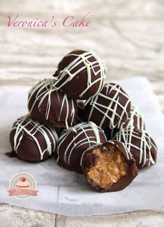Mogyoróvajas golyó Caramel Apples, Truffles, Wedding Cakes, Muffin, Cookies, Breakfast, Food, Balls, Candy