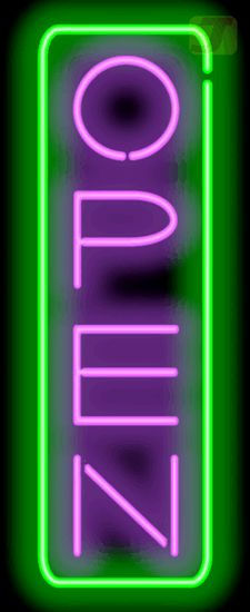 Deluxe Open Vertical Neon Sign - Purple & Green <br> This Deluxe Open Vertical Neon Sign - Purple & Green measures 13 inches wide x 32 inches high. All Indoor Neon Signs come ready to hang up and plug in right out of the box. Bedroom Wall Collage, Photo Wall Collage, Picture Wall, Neon Purple, Orange And Purple, Neon Green, Green Pictures, Pretty Pictures, Neon Licht