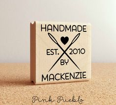 Personalized Sewing Rubber Stamp, Handmade By Sewing Needle Stamp