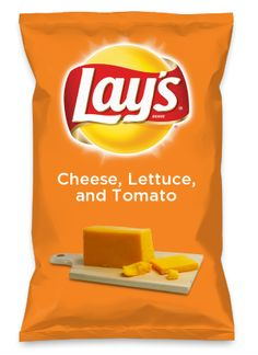 Wouldn't Cheese, Lettuce, and Tomato be yummy as a chip? Lay's Do Us A Flavor is back, and the search is on for the yummiest flavor idea. Create a flavor, choose a chip and you could win $1 million! https://www.dousaflavor.com See Rules.
