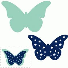 Silhouette Design Store: star layered butterfly