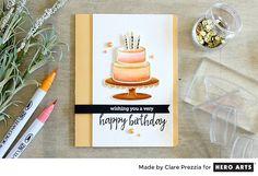 Peachy Birthday by Clare Prezzia for Hero Arts