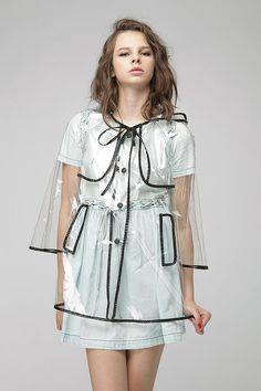i've secretly always wanted a see-through raincoat!