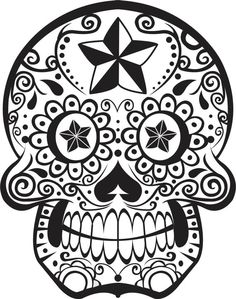 Sugar Skull Wall Vinyl Decal Sticker Art Graphic by BoopDecals, $38.00