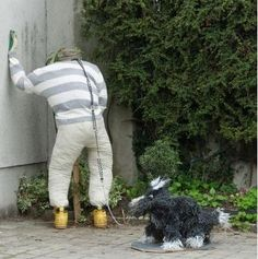 Cute idea o walking dog part for daycare if scarecrow was regular and appropriate