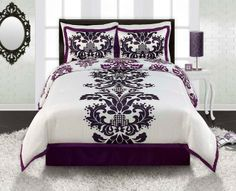 purple dcor home pourpre dcor la maison littlebearprod - Damask Bedroom Ideas