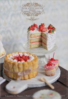 miniature+strawberry+cake+fimo+miniature+polymerclay+cupcake+strawberry+charlotte+cherry+cupcake+valentina+pinkcute+sugar++%281%29.JPG (1110×1600)