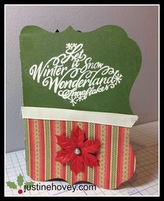 Justine's Close to My Heart Scrapbooking: 12 Days of Christmas - Cricut Artiste Gift Card Holder