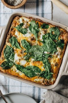 Perfect for meal prep and adheres to Paleo and Keto guidelines, this easy to prepare Breakfast Casserole made with egg, turkey, spinach, and sweet potato is delicious. Eating healthy for breakfast is simple and tasty with this recipe. Healthy Breakfast Casserole, Healthy Breakfast Options, Breakfast Ideas, Brunch Ideas, Healthy Brunch, Heathy Breakfast, Fodmap Breakfast, Healthy Options, Dinner Ideas