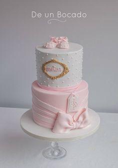 Baby Girl Christening Cake, Baby Girl Cakes, Torta Baby Shower, Cake Decorating Designs, Cake Designs, Baby 1st Birthday Cake, Ballerina Cakes, Cindy Smith, Shower Gifts