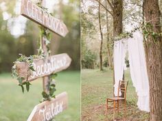 hanging lace like this on the ceremony arbor would be pretty  soft