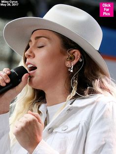 Miley Cyrus Rocks 'Liam' Earrings Again As She Belts Out Her Love Song On 'Today' — See Pic