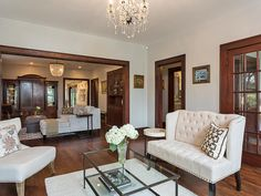 crystal chandelier - house tour
