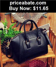 Women-Handbags-and-Purses: Black Hobo Women Shoulder Bag PU Leather Tote Handbag Purse Satchel Cross Body - BUY IT NOW ONLY $11.65