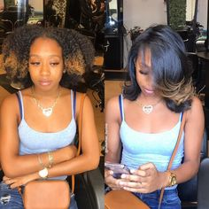 Black Women - Natural Hair Silk Press 30 Silk Press Results On Different Natural Hair Textures Braid Out Natural Hair, Coiling Natural Hair, Pressed Natural Hair, Blonde Natural Hair, Natural Hair Puff, Tapered Natural Hair, Texturizer On Natural Hair, Natural Hair Mask, Natural Hair Silk Press