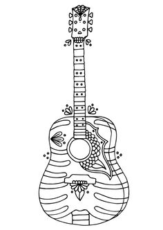 Acoustic Guitar Drawing Drawing Art Gallery ClipArt Best
