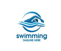 swimming-Logo-Design-free-download Minimal Logo Design, Best Logo Design, Swimming Tattoo, Swim Logo, Female Swimmers, Olympic Logo, Swimming Sport, Swim Team, Team T Shirts