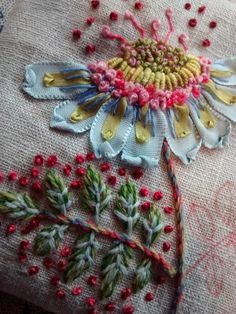 Wonderful Ribbon Embroidery Flowers by Hand Ideas. Enchanting Ribbon Embroidery Flowers by Hand Ideas. Silk Ribbon Embroidery, Crewel Embroidery, Embroidery Patterns, Embroidery Books, Embroidery Supplies, Embroidery Bracelets, Modern Embroidery, Flower Embroidery, L'art Du Ruban