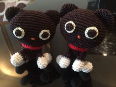 Amigurumi black cats