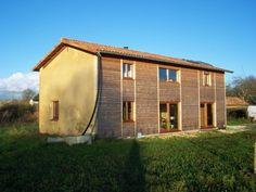 Maison mixte ossature bois et poteau poutre, charpente traditionnelle