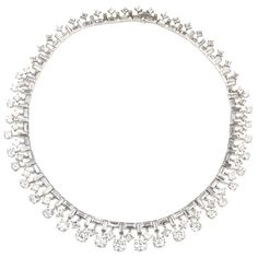 Van Cleef & Arpels Diamond Necklace | From a unique collection of vintage more necklaces at http://www.1stdibs.com/jewelry/necklaces/more-necklaces/