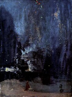 Whistler. Nocturne in Black and Gold: The Falling Rocket, 1874-1877, oil on canvas, Detroit Institute of Arts