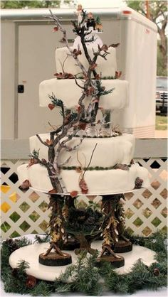 white camo wedding cakes - Google Search