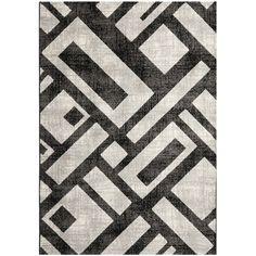Safavieh Porcello Black/ Grey Polypropylene Area Rugs - PRL3730B #Safavieh #Contemporary