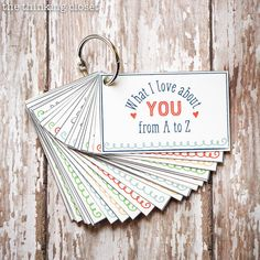 """What I Love About You from A to Z"" Mini-Book 