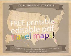 FREE Printable Family Travel Maps: United States and World Maps