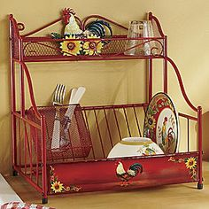 Red Rooster Sunflower Dish Rack from Seventh Avenue ®