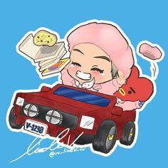 V Chibi, Anime Chibi, Bts Memes, Funny Memes, Army Drawing, Bts Fans, Cartoon Drawings, Taehyung, Kawaii