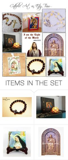 """Religious Art on Etsy by TerryTiles2014 - Volume 274"" by terrytiles2014 on Polyvore featuring arte, etsy, christian, art e catholic"