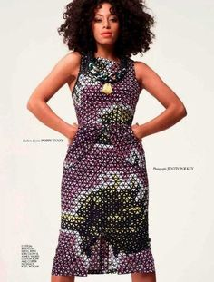 Solange Knowles continues to show her fiercely independent personality and identity by embracing African fashion and aesthetics. The singer makes the cover of South Africa's Elle Magazine looking gorgeous in . African Inspired Fashion, African Print Fashion, Africa Fashion, African Prints, Ethnic Fashion, Solange Knowles, African Attire, African Dress, Ankara Dress