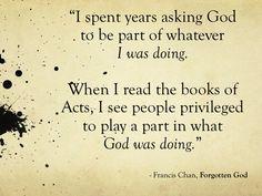 "Francis Chan - ""Forgotten God"""