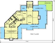 Angled Ranch Home with Lower Level - 46006HC floor plan - Main Level