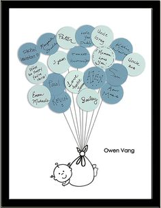 Unique Baby Shower Guest Book Print  Boy by SayAnythingDesign