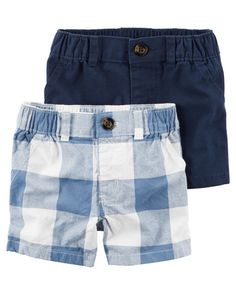 "Baby Boy 2-Pack Shorts from <a href=""http://Carters.com"" rel=""nofollow"" target=""_blank"">Carters.com</a>. Shop clothing & accessories from a trusted name in kids, toddlers, and baby clothes."