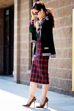 2013 fall\winter Does Plaid All Over fashion plaid skirt #street #style #plaid www.loveitsomuch.com