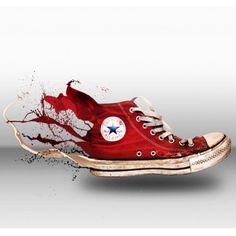 """""""More than just a shoe, this is a legacy of art."""" #chucktaylor made by @wahyusmoko"""