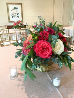 Lush garden centerpieces in summer sorbet color palette at The Forest Club by Fleur de Vie Houston.