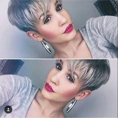 "2,813 Likes, 37 Comments - Short Hairstyles   Pixie Cut (@nothingbutpixies) on Instagram: ""@prettyfacesxo  @prettyfacesxo"""