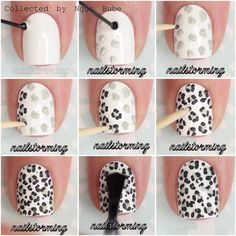 Ideas nails art sencillo paso a paso nails. ⚡️ Ideas nails art simple step by step Cheetah Nail Art, Leopard Print Nails, Cheetah Nail Designs, Animal Nail Designs, Zebra Nails, Leopard Prints, Leopard Spots, Stiletto Nails, Zebra Print