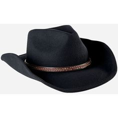 d0cf777db58 San Diego Hat Company Mens Cowboy Hat With Brown Leather Band ( 88) ❤ liked